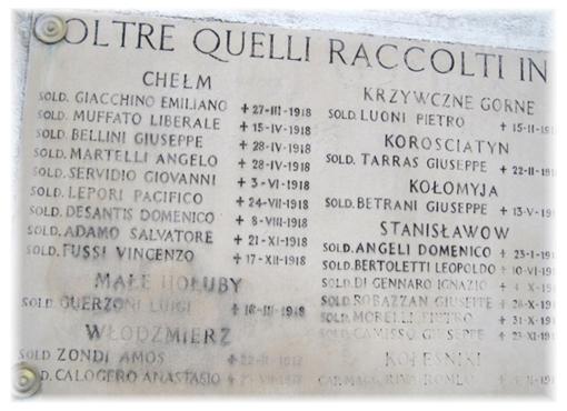 Lapidi in memoria a Bielany