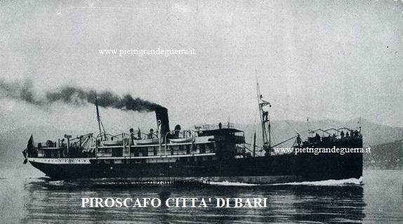 Piroscafo Città di Bari sito